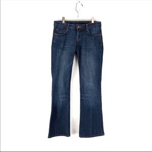Seven7 Size 26 Flare Low Rise Dark Wash Jeans B28